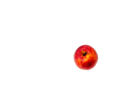Red apple isolated on white background with copyspace Imagens