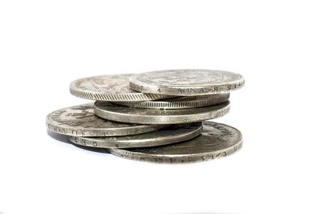 argentum: coins Stock Photo