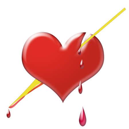 Heart pierced by an arrow