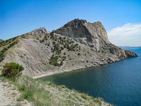 Crimea, Kara Dag Mountain Range, On The South-West Side, Blue Lagoon and Azure Sky Reklamní fotografie - 135487634