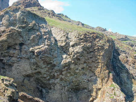 Crimea, Steep Rocky Coast, Ancient Lava Flows, Frozen Stone Drawing