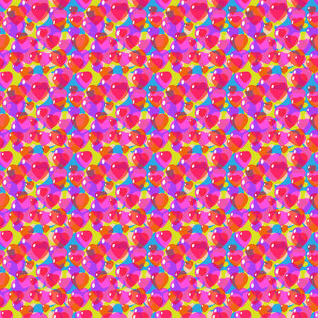 St. Valentine, Vector, Seamless Pattern of Stylized Hearts in a Romantic Style. Background for Textiles and Other Design Decisions