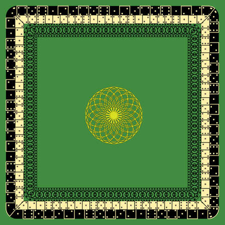 Vector Stylized Dice Mat Pattern On a Green Background. Possible Use in Design Solutions Illusztráció