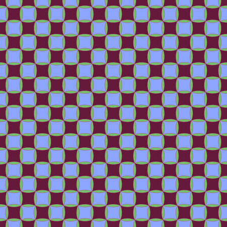 Seamless, Vector Abstract Image from Squares of Cherry and Lilac Flowers, Arranged in A Checkerboard Pattern. Application in Design and Textiles Possible