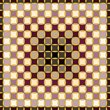 A Seamless, Vector Image of Chocolate-Beige Squares in A Gradient Order from A Dark Center, With A Dark Outline. Application in Design and Textiles Possible