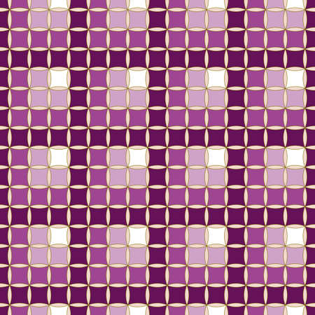 A Seamless, Vector Abstract Gradient Image Made of Cherry Hue Squares and Dark Lattices. Application in Design and Textiles Possible