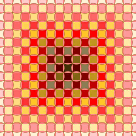 Seamless, Vector Abstract Image of a Gradient of Squares in Red and Yellow Shades. Application in Design and Textiles Possible Illusztráció