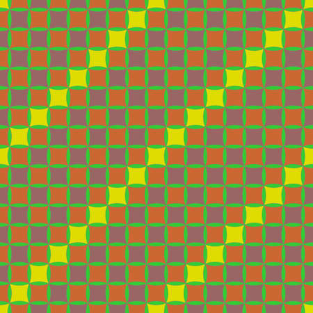 Seamless, Vector Abstract Image Made of Chocolate and Dark Orange Squares with A Yellow Diagonal. Application in Design and Textiles Possible