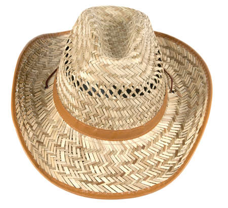 A strow hat isolated ower white