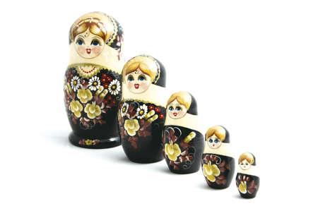 Russian dolls  Russian pregnant dolls, matrjoshka Stock Photo - 12413240