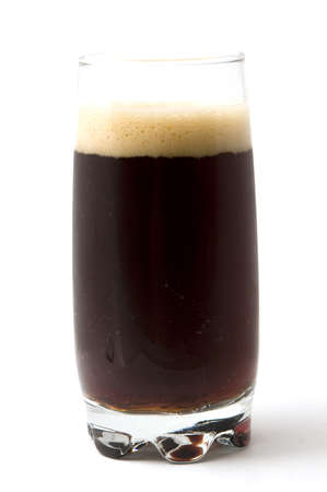 Russian kvass in a glass isoiated on white background