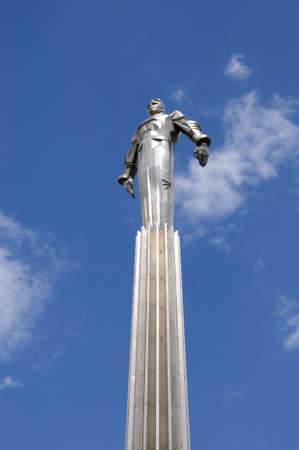 Russia, Moscow, Gagarin square, a memorial to Yurij Gagarin - the first astronaut