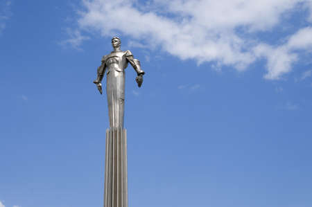 vostok: Russia, Moscow, Gagarin square, a memorial to Yurij Gagarin - the first astronaut