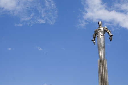 gagarin: Russia, Moscow, Gagarin square, a memorial to Yurij Gagarin - the first astronaut