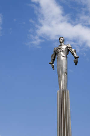 Russia, Moscow, Gagarin square, a memorial to Yurij Gagarin - the first astronaut Stock Photo - 12355085