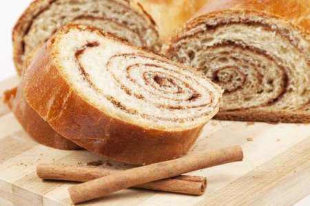 Home-made dessert - sweet rolls with cinnamon filling