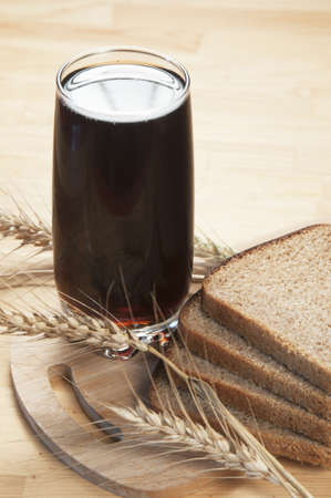 Russian kvass - traditional drink made of rye bread