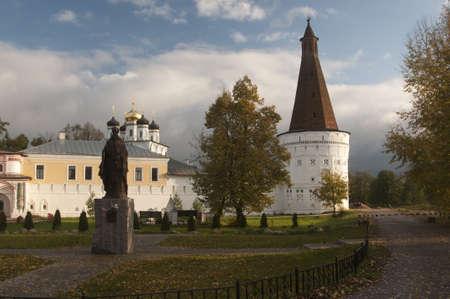 Iosifo-Volotskiy monastery - Voskresenskaya (Resurrection) tower and Uspenskiy (Assumption,  Dormition) Cathedral