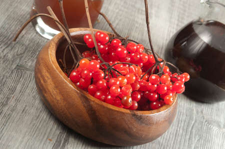 guelder: Guelder (arrowwood) berries and  sirup, concentrated and diluted