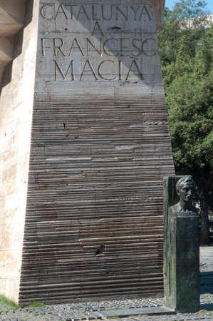 francesc: Barcelona, Spain, Catalonia square (Placa de Catalunya), memorial to Francesc Macia