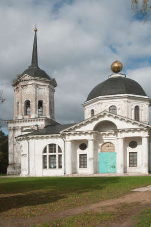 precursor: Gontcharov family estate in Jaropolets, Moscow region, Russia, John the Precursor church Editorial