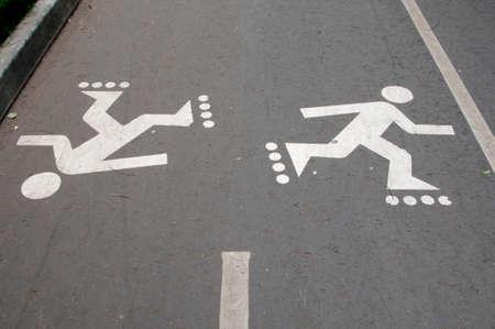formatting: Asphalt road with marking roller lane