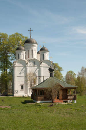 archangel: The Archangel Michael church in Mikulino village the end of XIV century. Russia Moscow region