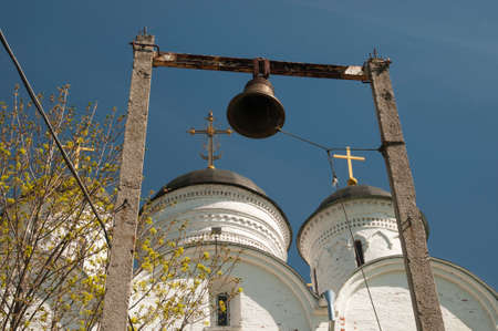 archangel: The Archangel Michael church in Mikulino village the end of XIV century. Russia Moscow region.