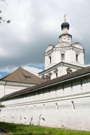 archangel: Andronikov Monastery of the Saviour, the  monastery wall and The Archangel Michael church