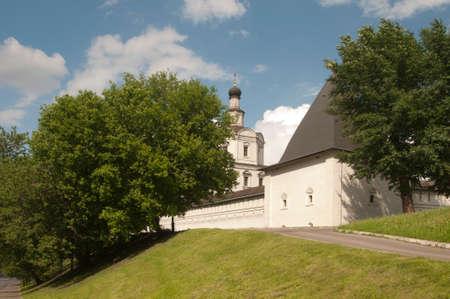 michael the archangel: Andronikov Monastery of the Saviour the tower of the monastery wall and The Archangel Michael church Stock Photo