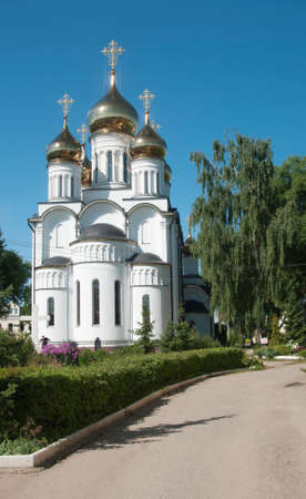 st nicholas: PERESLAVL-ZALESSKY, RUSSIA, JULY 25, 2015 St. Nicholas convent, The Cathedral Of St. Nicholas Editorial