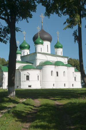 theodore: PERESLAVL-ZALESSKY, RUSSIA, JULY 25, 2015 St. Theodors monastery, The Cathedral of the great Martyr. Theodore Stratelates