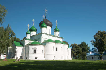 martyr: PERESLAVL-ZALESSKY, RUSSIA, JULY 25, 2015 St. Theodors monastery, The Cathedral of the great Martyr. Theodore Stratelates