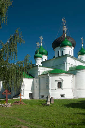 yaroslavl: PERESLAVL-ZALESSKY, RUSSIA, JULY 25, 2015 St. Theodors monastery, The Cathedral of the great Martyr. Theodore Stratelates