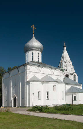 blessed trinity: PERESLAVL-ZALESSKY, RUSSIA, JULY 25, 2015 Trinity Danilov monastery. The Cathedral of Holy Trinity with the Church of Daniel