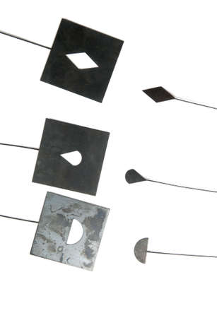 negative film: Masks for photo printing of negative film, collection, isiolated Stock Photo