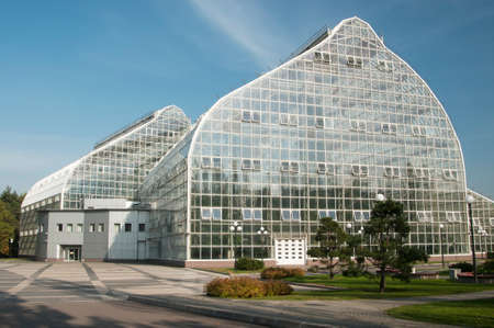 economic botany: MOSCOW, RUSSIA, SEPTEMBER 24, 2015 -  New climatizer in the Main Botanical Garden in Moscow, Russia, the biggest climatizer in Europe. Editorial