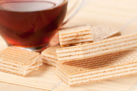 wafers: Sandwiched wafers with cream filling
