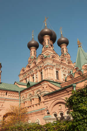 place of interest: OSTANKINO, MOSCOW, RUSSIA, September 24, 2015 - Trinity church in Ostankino, Moscow, famous historical landmark Editorial