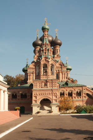 OSTANKINO, MOSCOW, RUSSIA, September 24, 2015 - Trinity church in Ostankino, Moscow, famous historical landmark Editorial