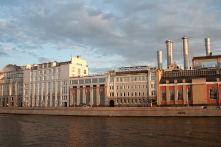 g p: MOSCOW, RUSSIA, July 18, 2015  - State power plant No. 1 named after. P. G. Smidovich - the oldest working thermal power plant in Russia, Moscow Editorial