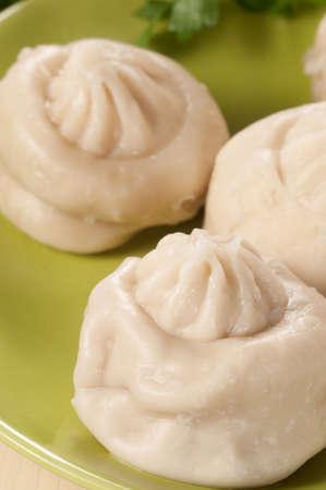 oriental cuisine: Manty- the meat dumplings from oriental cuisine, closeup