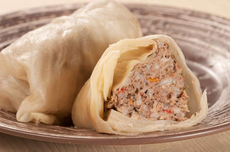 russian food: Cabbage rolls with meat and rice (Golubtsy), traditional russian food