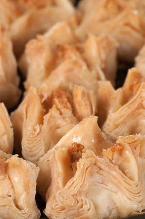 baklava: Baklava with walnut, close up shot, local focus Stock Photo