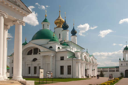 conception: ROSTOV, RUSSIA, MAY 08. 2016: - Rostov the Great, Spaso-Yakovlevsky Dmitriev monastery, The Cathedral Of The Conception Of Anne and The Church Of Jacob Of Rostov