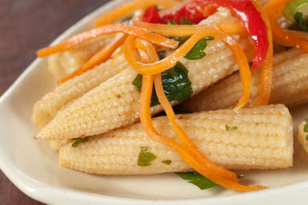 marinated: Marinated Corn With Carrot, Onion and Paprika Stock Photo