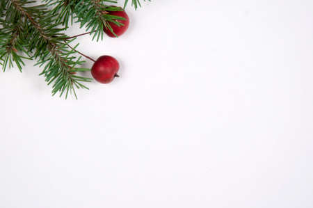 Christmas and New Year frame border background  with the place for text. Top view.