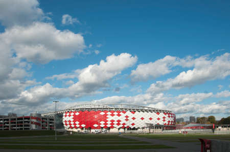 MOSCOW, RUSSIA, OCTOBER 01. 2016: - Otkrytiye Arena, Spartak football club stadium included in the Russias bid for the 2018 FIFA World Cup and 2017 FIFA Confederations Cup.