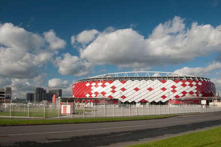 bid: Moscú, Rusia OCTUBRE 01. 2016: - Otkrytiye Arena, estadio del club de fútbol Spartak incluido en la oferta de la Rusia para la Copa Mundial de la FIFA 2018 y 2017 de la Copa Confederaciones de la FIFA.