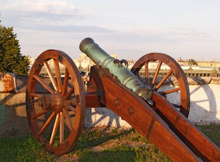 Old field-gun Stock Photo